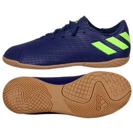 Adidas Nemeziz Messi 19.4 In Jr EF1817 football shoes navy blue navy