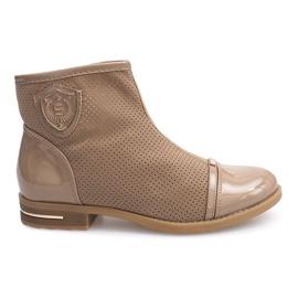 Elegant boots, shoes 1956 Khaki brown