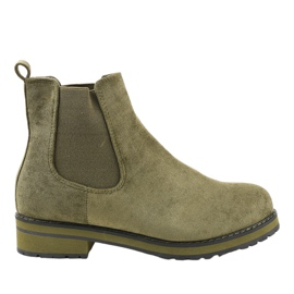 Green insulated boots Jodhpur boots F-3799