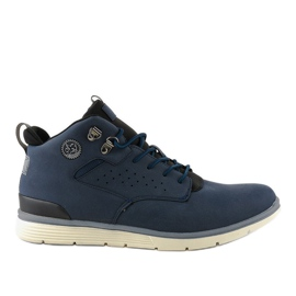 Dark blue insulated men's hiking boots X925-2 navy
