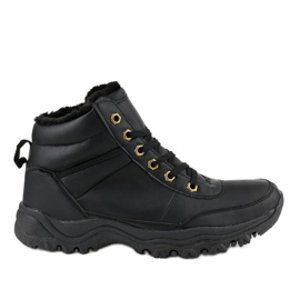 Black insulated shoes GT-9578-1