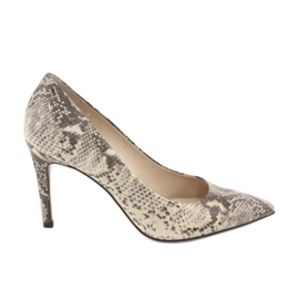 Animal Pumps on a pin Anis 4716 python beige brown