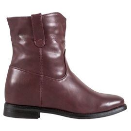 Ideal Shoes Cowboy Boots With Eco Leather red