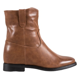 Ideal Shoes Cowboy Boots With Eco Leather brown