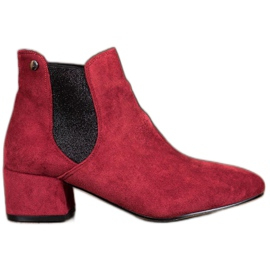 Ideal Shoes Jodhpur boots with glitter red