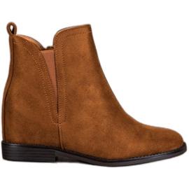 SHELOVET Comfortable Cowboy boots brown
