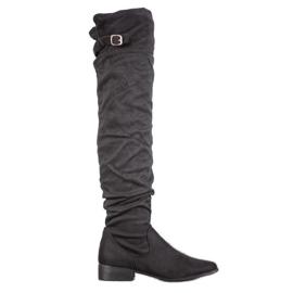 SHELOVET Stylish boots over the knee black