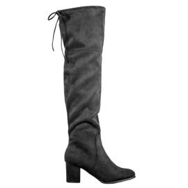 Clowse Elegant Suede Boots black