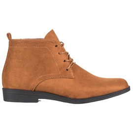 Goodin Comfortable Suede Boots brown