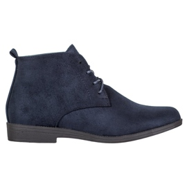 Goodin Comfortable Suede Boots blue