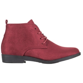Goodin Comfortable Suede Boots red