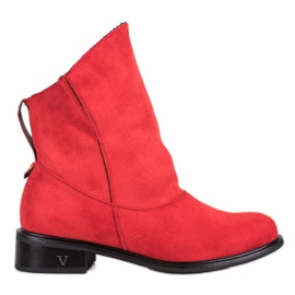 Gogo Red Booties