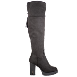 Evento Suede Boots On The Platform black