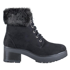 Goodin Black Boots With Fur