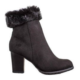 Goodin Ankle Boots With Fur black