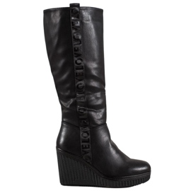Goodin Wedge Heels Love black