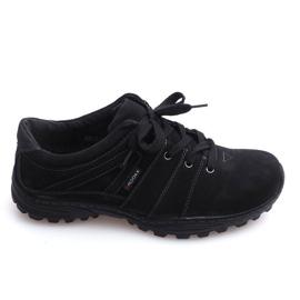 Trekking Boots Leather Nat 6144 Black
