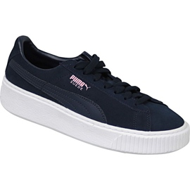 Puma Suede Platform Jr 363663-03 shoes navy