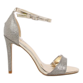Gold Sandals on a TU130 Gold heel yellow