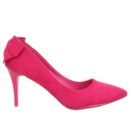 Pumps on a pin with fuchsia bow NF-46 Fuchsia pink