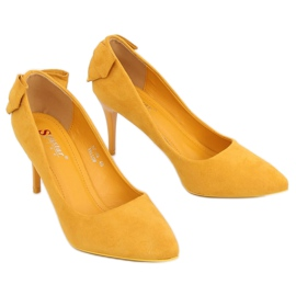 Pumps on a pin with a yellow bow NF-46 Yellow