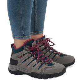 Gray women's trekking shoes FS302-33