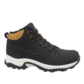 Black insulated snow boots 9WCH-86421