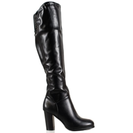 SHELOVET High Boots With Eco Leather black