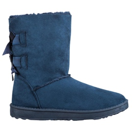 Haver Warm Snow Boots With Bows blue