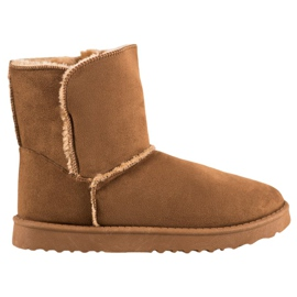 Lucky Shoes Camel Snow Boots brown