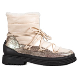 Textile Snow Boots VICES yellow