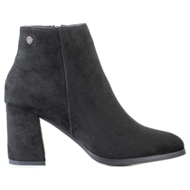 Goodin Stylish Suede Booties black