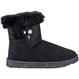 SHELOVET Snow Boots With Pearl black