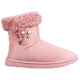 SHELOVET Snow Boots With Pearl pink