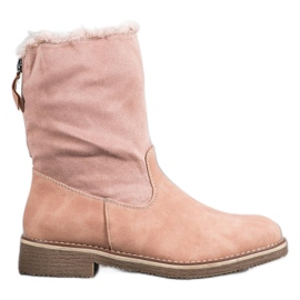 Forever Folie Boots With Woolen Upper pink