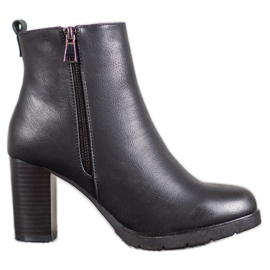 J. Star Women's Ankle Boots With Eco Leather black