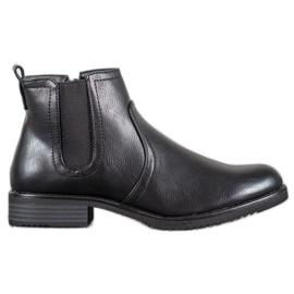 J. Star Black Ankle Boots