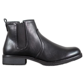 J. Star Black Ankle Boots