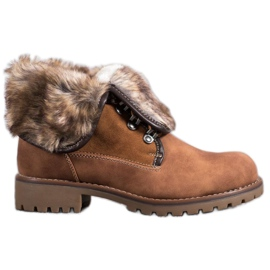 SDS Boots With Woolen Upper brown