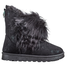 Bella Paris Snow-boots With Fur black