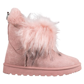 Bella Paris Snow-boots With Fur pink