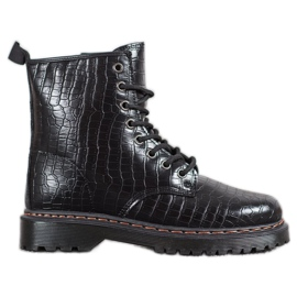 SHELOVET Black Workers With Eco Leather