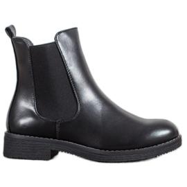 SHELOVET Slip-on Ankle Boots black