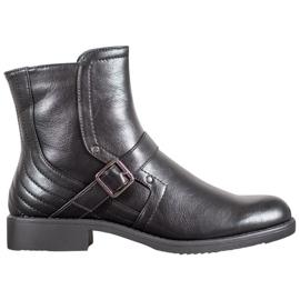 J. Star Boots On Flat Heel black