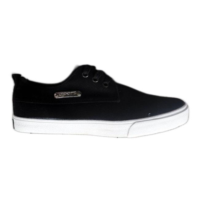 Fabric Sneakers Casual Y011 Black