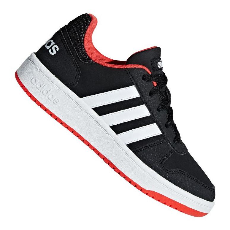 Adidas Hoops 2.0 Jr B76067 shoes black red