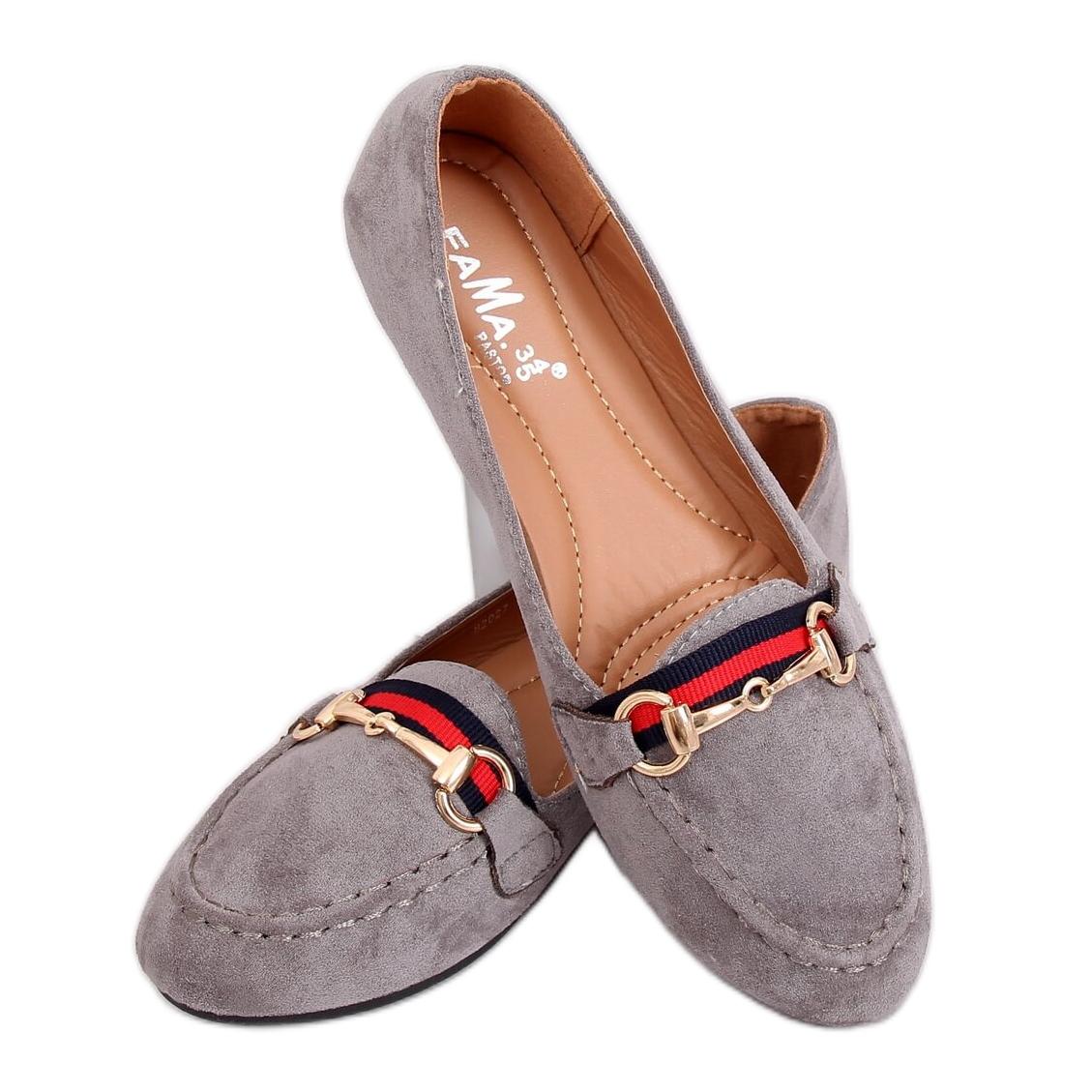 Gray Women's loafers B2027 Gray grey | eBay