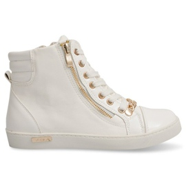 High Sneakers With A Slider Y406 White