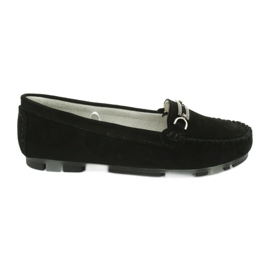 Moccasins made of suede leather Filippo DP 1202 black