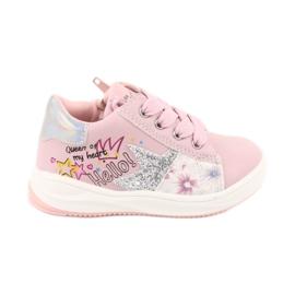 Girls' sports shoes star American Club GC15 pink grey